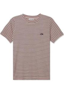 Camiseta Lacoste Listrada Feminina - Feminino