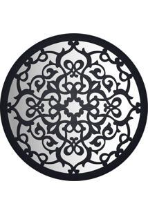 Espelho Decorativo Mandala Preto 0,9X80X80 Cm