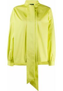Jejia Blusa Com Laço Na Gola - Amarelo