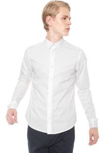 Camisa Calvin Klein Reta Logo Branca