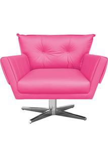 Poltrona Giratã³Ria Anitta Corino Pink Base Estrela Cromada D'Rossi - Rosa - Dafiti