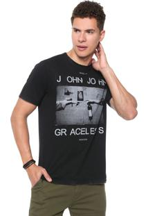 Camiseta John John Graceless Preta