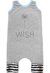 Pijama Regata Comfy Wish Cinza