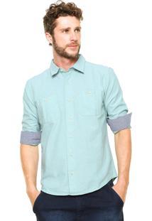 Camisa Hering Slim Bolsos Verde