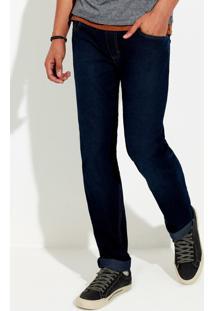 Calça Jeans Masculina Tradicional Com Elastano
