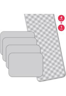 Jogo Americano Love Decor Com Caminho De Mesa Wevans Xadrez Basic Kit Com 4 Pçs 1 Trilho