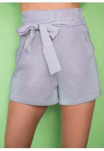 Short Azul Vichy