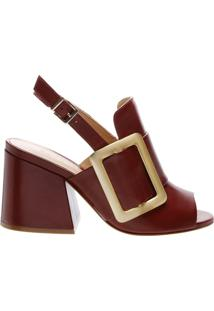 Sandália Maxi Fivela Red Brown | Schutz