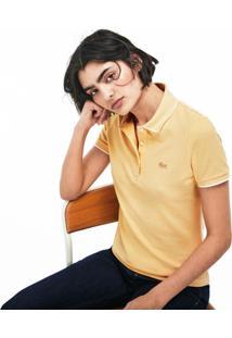 Polo Lacoste Slim Fit Amarelo