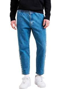 Calça Jeans Levis Track Pant 4 Way Stretch Média Masculina - Masculino-Azul