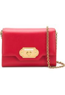 Dolce & Gabbana Bolsa Transversal Com Logo - Vermelho