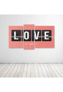 Quadro Decorativo - Love You (2)2 - Composto De 5 Quadros
