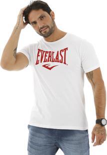 Camiseta Everlast Logo E Escrito Branca
