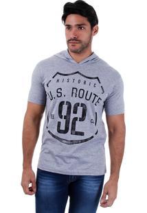 Camiseta Alongada Masculina Metropolitan - Cinza
