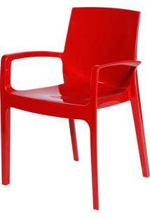 Cadeira Cream Vermelho Or Design