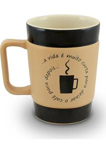 Caneca Coffe To Go-Vida Curta 300Ml-Mondoceram - Pardo