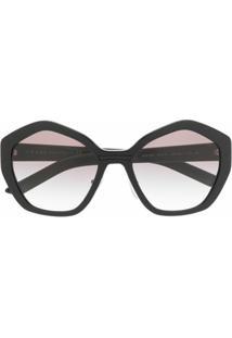 Prada Eyewear Óculos De Sol Geométrico - Preto
