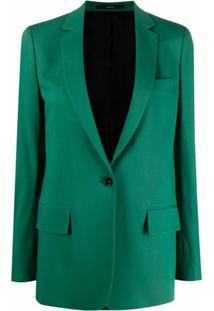 Paul Smith Blazer Com Abotoamento Simples - Verde