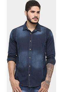 Camisa Reserva Indigo Stone Recorte - Masculino