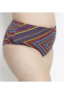 Calcinha Hot Pant Geométrica- Pink & Amarela- Arsiéarsie