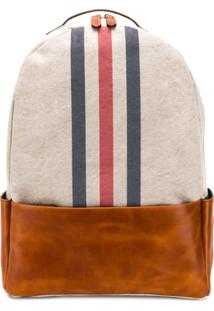 Eleventy Stripe Front Backpack - Neutro
