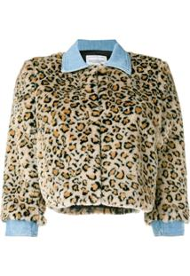 Forte Dei Marmi Couture Jaqueta Cropped 'Tiger' - Neutro