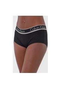 Calcinha Calvin Klein Underwear Caleçon Logo Preta