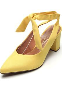 Scarpin Vizzano Camurã§A Amarelo - Amarelo - Feminino - Dafiti