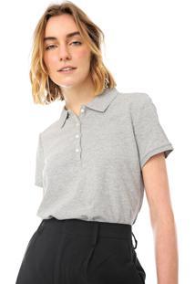 Camisa Polo Gap Reta Lisa Cinza
