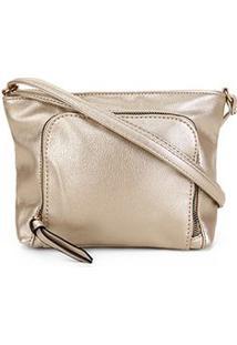 Bolsa Pagani Mini Bag Feminina - Feminino-Dourado