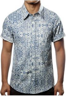 Camisa Camaleão Urbano Arabesco Azul