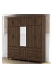 Guarda Roupa 11 Portas 6 Gavetas E Espelho Triton Plus Triplex - Cedro