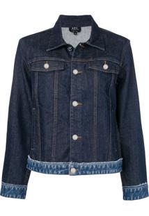 A.P.C. Jaqueta Jeans Com Pespontos - Azul
