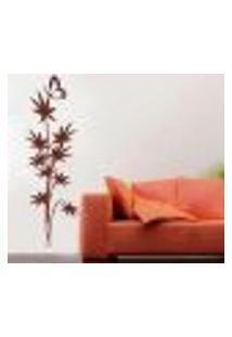 Adesivo De Parede Floral Modelo 21 Com Borboleta - G 185X60Cm