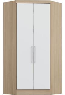 Modulo De Closet Com 2 Porta E 2 Gavetas Infinity 3806A-Castro Móveis - Nogueira / Branco