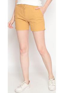 Short Em Sarja Com Colchetes- Amarelo Escuro- Heringhering