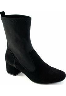 d3a025d2b5 ... Bota Sapato Show Knit Numeração Especial Feminina - Feminino