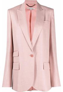 Stella Mccartney Blazer Com Lapelas E Abotoamento Simples - Rosa