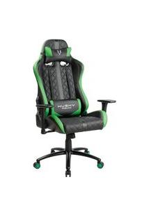 Cadeira Gamer Husky Gaming Hailstorm, Black Green - Hha-Bg