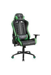 Cadeira Gamer Husky Hailstorm, Black Green - Hha-Bg