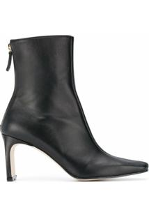 Reike Nen Ankle Boot Trim Com Salto 80Mm - Preto