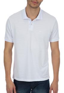 Camisa Polo Colombo Lisa Branca