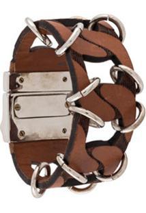 Gianfranco Ferré Pre-Owned 2000S Archive Oversized Bracelet - Marrom