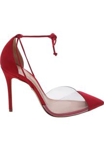 Scarpin Vinil Lace Up Verniz Red | Schutz