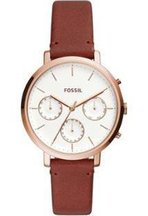 Relógio Fossil Sylvia Feminino - Feminino-Marrom