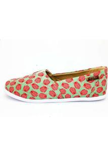 Alpargata Quality Shoes Coruja Feminina - Feminino-Verde