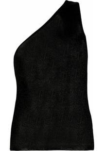 Missoni Blusa Slim Com Ombro Único - Preto