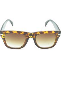 Óculos Solar Prorider Animal Print Com Detalhe Dourado - Fy82003C3