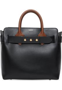 Burberry Bolsa The Medium Com Cinto - Preto