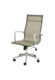 Cadeira Sevilha Eames Alta Cromada Tela Dourada - 38047 Dourado
